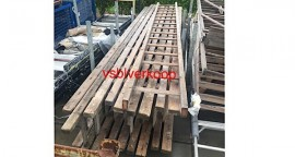 Houten bouwladders gebruikt