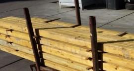 Metselprofielen hout gebruikt